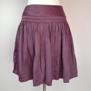 Foreign Exchange Wine Silk Circle Skirt SMALL